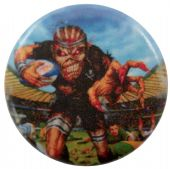 Iron Maiden - 'Eddie New Zealand Rugby' Button Badge